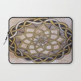 Gold Silver Celtic Knot Mandala  Laptop Sleeve