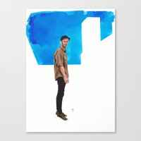 ed sheeran Canvas Prints featuring Ed by Marc G. Ballve