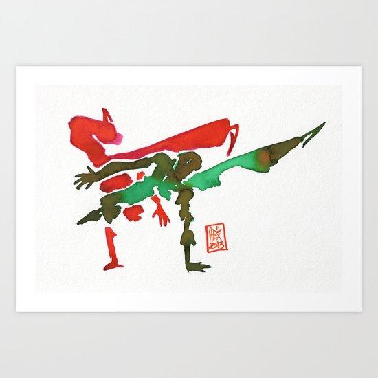 Capoeira 251 Art Print