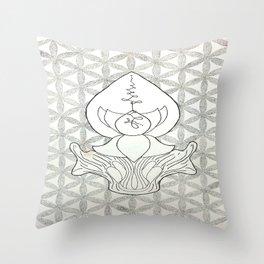 Sacred Geometry Flower Design Throw Pillow
