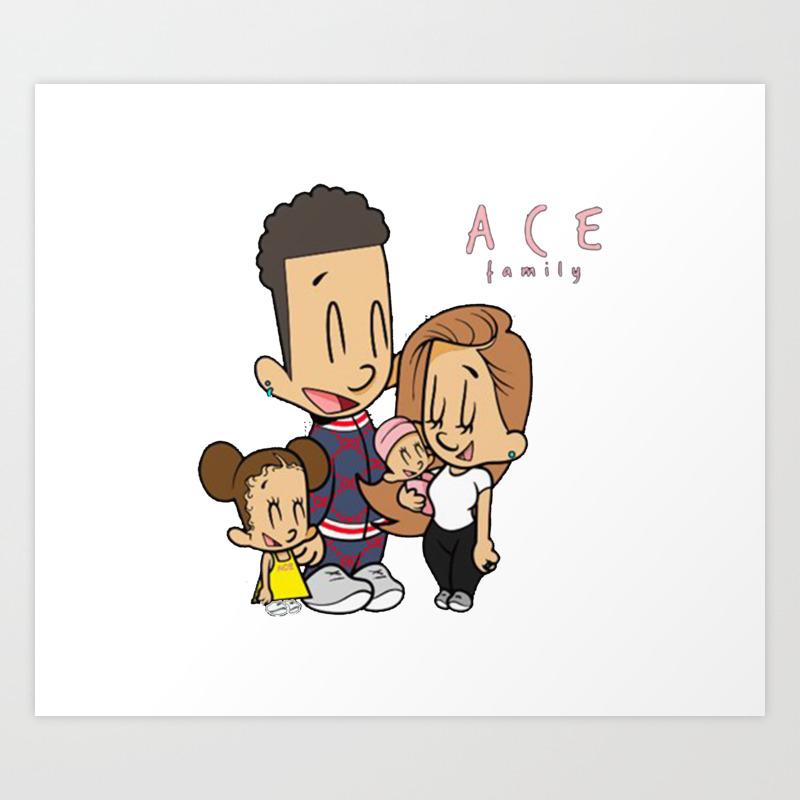 Ace Family Art Print By Zadahmed Society6