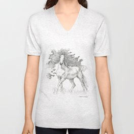 Saddlebred Horse Unisex V-Neck