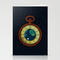 pocket Stationery Cards featuring Cosmic Pocket Watch by badOdds