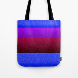 Blue Purple and Burgundy Passion Tote Bag