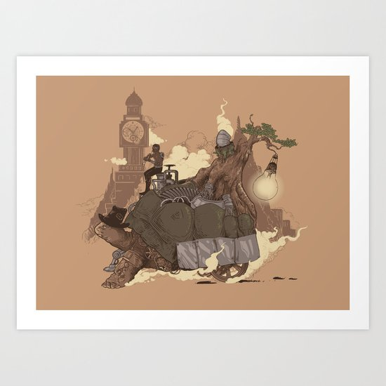 Mythical Rhapsody: King of the Earth Art Print