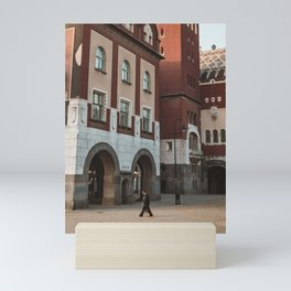 People on the streets of Subotica, Serbia // fall // autumn Mini Art Print