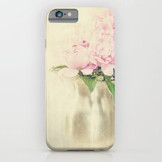 Antique Peony Bouquet in Stainless Pitcher Still Life Floral iPhone 6s Slim Case
