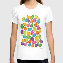 We Were Just Babies When We Were Born colorful pattern peaceful illustration ink painting abstract T-shirt