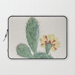 Vintage boho tribal chic succulent aloe cactus agave antique botanical desert print Laptop Sleeve