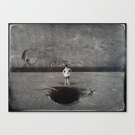 House Disaster Art - Swimmin' Hole? Canvas Print