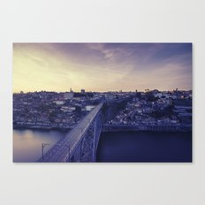 Porto across the bridge. Canvas Print