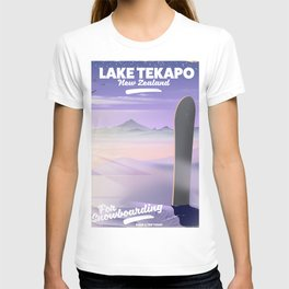Snowboard Lake Tekapo New Zealand T-shirt