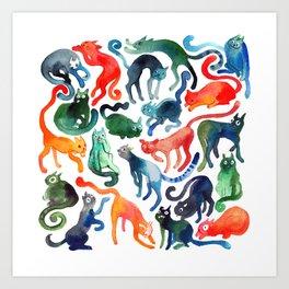 Cats United Art Print