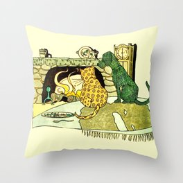 Fireside Friends Throw Pillow