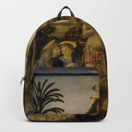Andrea del Verrocchio - The Baptism of Christ Backpack