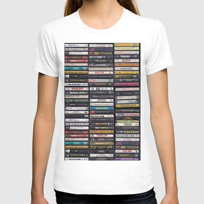 Old 80's & 90's Hip Hop Tapes T-Shirt