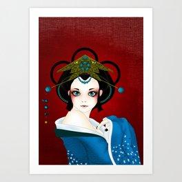 GeishaDoll Art Print