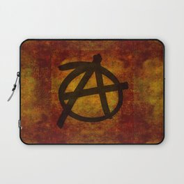 Distressed Anarchy Symbol Laptop Sleeve