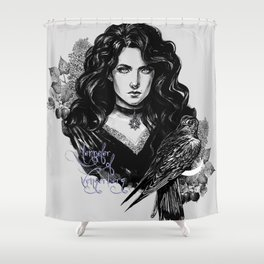 Lilac and gooseberry Shower Curtain