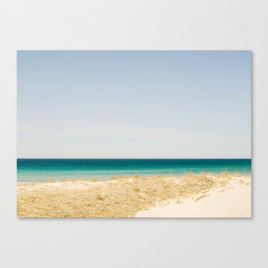 Seashore Blue Line Canvas Print