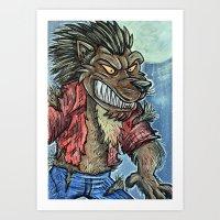 werewolf Art Prints featuring Werewolf by MSG Imaging