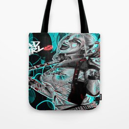 Bad Girl In Turquoise Blue Tote Bag