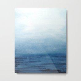 Seascape Watercolor Painting Metal Print