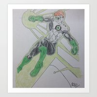 super hero Art Prints featuring Super Hero by Robs art