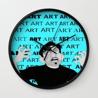 meme Wall Clocks featuring Art Meme  by Madison Daniels