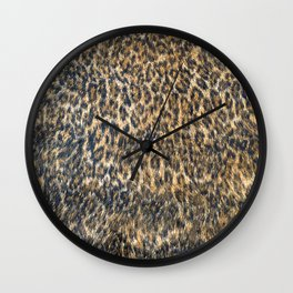Leopard Cheetah Fur Wildlife Print Pattern Wall Clock