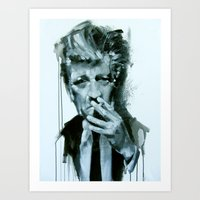 david lynch Art Prints featuring David Lynch by Marco Draisci