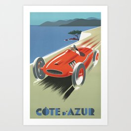 French Riviera Art Print