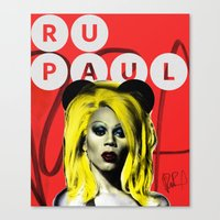 rupaul Canvas Prints featuring Rupaul  by HeyBun
