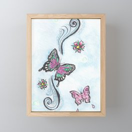 Butterfly Fancy Framed Mini Art Print