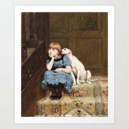 Briton Riviere~Sympathy Art Print