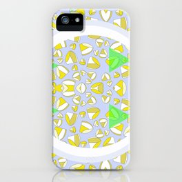 YELLOW LIP HEART iPhone Case