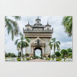 Patuxai Victory Arch II, Vientiane, Laos Canvas Print