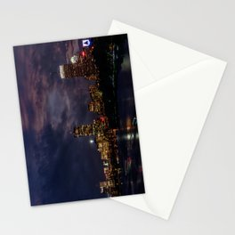 Boston at night Stationery Cards