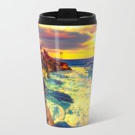 Glowing sea Travel Mug