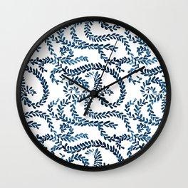 Mexican Talavera inspired pattern Wall Clock