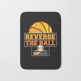 Reverse the Ball Hoop Coach Basketball Bath Mat