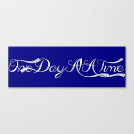 One Day At A Time (blue) Canvas Print
