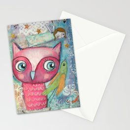 Owl, Bird and Fairy Stationery Cards