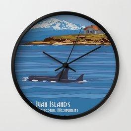Vintage poster - San Juan Islands Wall Clock