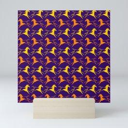 Horse Nation Purple Gold Mini Art Print