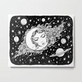 Midnight Muse Moon Love Metal Print