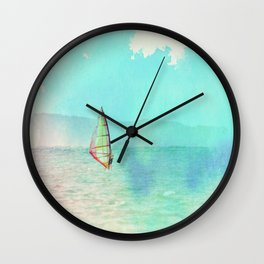 Kailua Windsurfing Wall Clock