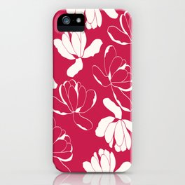 Red and white Flowers iPhone Case
