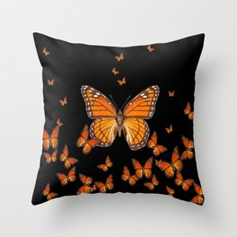 WORLD OF MONARCH BUTTERFLIES Throw Pillow