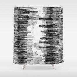 Polyline Distortion Shower Curtain